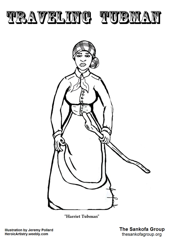 Harriet tubman coloring page 0 views black history for Underground railroad coloring pages